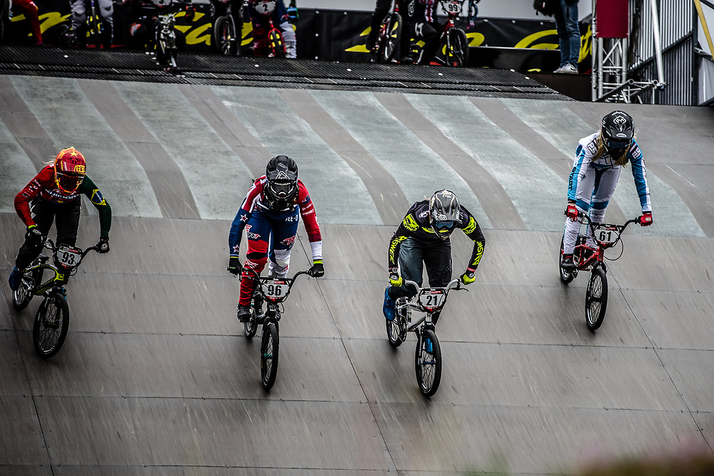 during practice at Round 3 of the 2019 UCI BMX Supercross World Cup in Papendal, The Netherlands