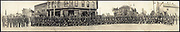 World War I Panoramas <br /> <br /> These long panoramic photographs show U. S. military personnel and camps, patriotic parades, and European battlefields and cemeteries related to WWI.<br /> <br /> PHOTO SHOWS: Home coming, Calumet Co. boys, Chilton, Wis., Sept. 20, 1919<br /> ©Library of Congress/Exclusivepix Media