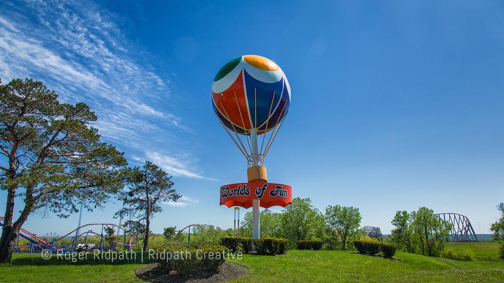 Worlds of Fun Kansas City Amusement Park Entrance Sunny Daytime