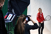 Warsaw, Poland - 2017 December 08: Tennis player Katarzyna Wysoczanska from Poland while Photo Session of Fed Cup Team of Polish Tennis Association at Mera Tennis Club on December 08, 2017 in Warsaw, Poland.<br /> <br /> Mandatory credit:<br /> Photo by &copy; Adam Nurkiewicz / Mediasport<br /> <br /> Adam Nurkiewicz declares that he has no rights to the image of people at the photographs of his authorship.<br /> <br /> Picture also available in RAW (NEF) or TIFF format on special request.<br /> <br /> Any editorial, commercial or promotional use requires written permission from the author of image.