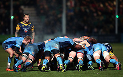 Steam rises from a scrum contested by Worcester Warriors and London Irish - Mandatory by-line: Robbie Stephenson/JMP - 22/12/2017 - RUGBY - Sixways Stadium - Worcester, England - Worcester Warriors v London Irish - Aviva Premiership
