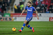 Charlie Taylor (Leeds United) during the EFL Sky Bet Championship match between Rotherham United and Leeds United at the New York Stadium, Rotherham, England on 26 November 2016. Photo by Mark P Doherty.