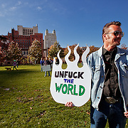 Occupy KC Rally/Protest at Ilus Davis Park near City Hall on Sunday Oct. 30 2011 in Kansas City, MIssouri.