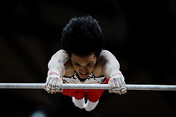 October 29, 2018 - Doha, Qatar - Yusuke Tanaka of  Japan   during  High Bar, Team final for Men at the Aspire Dome in Doha, Qatar, Artistic FIG Gymnastics World Championships on October 29, 2018. (Credit Image: © Ulrik Pedersen/NurPhoto via ZUMA Press)