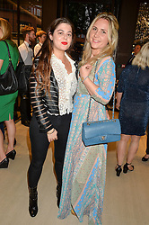 Left to right, FLO GROSSMAN and DAISY BAYLIS at a party to celebrate the launch of the new Watches of Switzerland Knightsbridge store 47-51 Brompton Road, London on 7th July 2016.