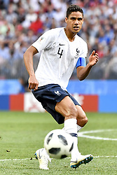 June 26, 2018 - Moscow, RUSSIA - France's Raphael Varane pictured in action during the soccer game between France and Denmark, the third game in group C at the 2018 FIFA World Cup, in the Luzhniki stadium in Moscow, Russia, Tuesday 26 June 2018. BELGA PHOTO DIRK WAEM (Credit Image: © Dirk Waem/Belga via ZUMA Press)