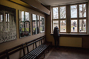 The entrance hall to the  Auschwitz Memorial Museum. It is estimated that between 1.1 and 1.5 million Jews, Poles, Roma and others were killed in Auschwitz during the Holocaust in between 1940-1945.