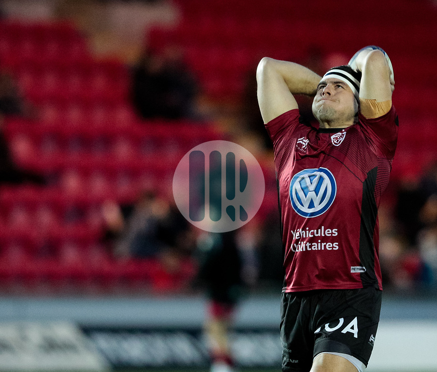Toulon's Guilhem Guirado during the pre match warm up<br /> <br /> Photographer Simon King/Replay Images<br /> <br /> European Rugby Champions Cup Round 6 - Scarlets v Toulon - Saturday 20th January 2018 - Parc Y Scarlets - Llanelli<br /> <br /> World Copyright © Replay Images . All rights reserved. info@replayimages.co.uk - http://replayimages.co.uk