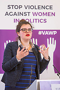 Emily Cunningham (Staff Representative, UK Working Group on an Independent Complaints and Grievance Policy) Session 8: RECOMMENDATIONS TO PROTECT WOMEN'S RIGHT TO PARTICIPATE IN POLITICS FREE FROM VIOLENCE 'Violence Against Women in Politics' Conference, organised by all the UK political parties in partnership with the Westminster Foundation for Democracy, 19th and 20th of March 2018, central London, UK.  (Please credit any image use with: © Andy Aitchison / WFD