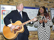 Boris Johnson and Misha B launch Gigs 2013 competition to find a London Busking star.<br />