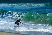 Boogie boarding, Skaket Beach, Orleans, Cape Cod, Massachusetts, USA.