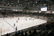The RIT Women's Hockey team faces off against Union College at the Gene Polisseni Center on October 3, 2014.