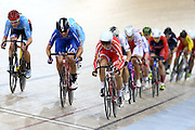 Alison Beveridge of Canada ( far left) Women's Omnium Points race during the UCI Cycling World Cup at the Avantidrome, Cambridge, New Zealand, Sunday, December 06, 2015. Credit: Dianne Manson/CyclingNZ/UCI