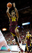 Forward Eric Curry (24) shoots during the first half of the University of Minnesota Men's Basketball game versus University of Wisconsin on March 5, 2017.