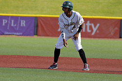 28 May 2017: Yeixon Ruiz during a Frontier League Baseball game between the Lake Erie Crushers and the Normal CornBelters at Corn Crib Stadium on the campus of Heartland Community College in Normal Illinois