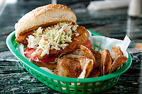 The Fishy Chippy, a fried fish sandwich at Dooley's Beef N' Brew House in St. Louis, MO.