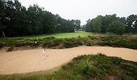 AALDEN - Drentse Golfclub De Gelpenberg .  Hole 18 met de grootste bunker van Nederland.  COPYRIGHT KOEN SUYK