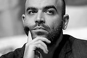 &copy; Filippo Alfero<br /> Salone del Libro 2015<br /> Torino, 16/05/2015<br /> Nella foto: Roberto Saviano
