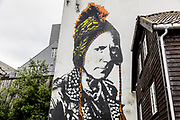 Stavanger, Johnny Rotten on the wall, the city is the headquarter of the Nuart festival, established way back in 2001. At each year's festival, Stavanger's extensive street art collection grows a little more.