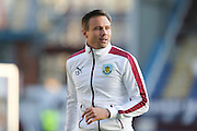 Matthew Taylor of Burnley warming up before the Sky Bet Championship match between Burnley and Middlesbrough at Turf Moor, Burnley, England on 19 April 2016. Photo by Simon Brady.