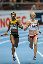 08.03.2014, Ergo Arena, Sopot, POL, IAAF, Leichtathletik Indoor WM, Sopot 2014, im Bild MALGORZATA HOLUB, 4X400 m // MALGORZATA HOLUB, 4X400 m during day two of IAAF World Indoor Championships Sopot 2014 at the Ergo Arena in Sopot, Poland on 2014/03/08. EXPA Pictures © 2014, PhotoCredit: EXPA/ Newspix/ Radoslaw Jozwiak<br /> <br /> *****ATTENTION - for AUT, SLO, CRO, SRB, BIH, MAZ, TUR, SUI, SWE only*****