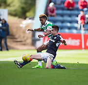 Dundee&rsquo;s Cammy Kerr tackles Celtic&rsquo;s Scott Sinclair - Dundee v Celtic in the Ladbrokes Scottish Premiership at Dens Park, Dundee.Photo: David Young<br /> <br />  - &copy; David Young - www.davidyoungphoto.co.uk - email: davidyoungphoto@gmail.com