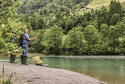 THEMENBILD - ein Fliegenfischer wirft seine Angel aus, aufgenommen am 10. Juni 2019, Kaprun, Österreich // a fly fisherman ejects his fishing rod on 2019/06/10, Kaprun, Austria. EXPA Pictures © 2019, PhotoCredit: EXPA/ Stefanie Oberhauser