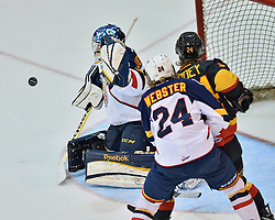 The Barrie Colts defeated the Belleville Bulls 3-1 in the seventh and deciding game to win the 2013 Rogers Eastern Conference Championship. Photo by Terry Wilson / OHL Images.