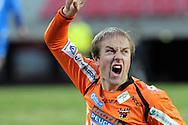 23.04.2010, Ratina, Tampere..Veikkausliiga 2010, Tampere United - JJK Jyv?skyl?..Antto Tapaninen (JJK) huutaa tuskissaan loukattuaan nilkkansa..©Juha Tamminen.