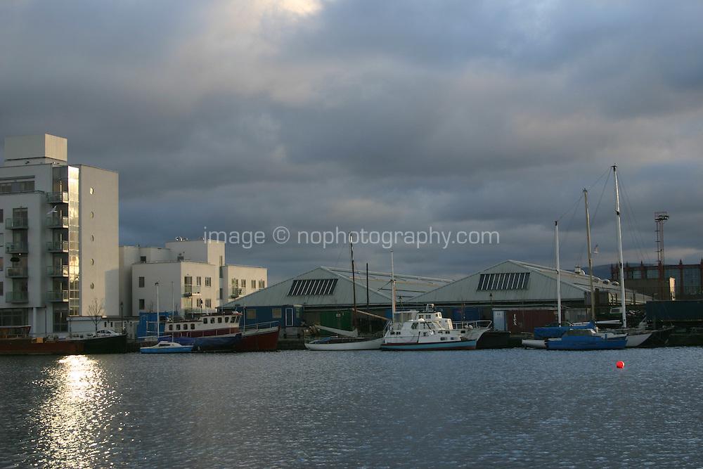 Boats at Canal docks; Dublin; Ireland
