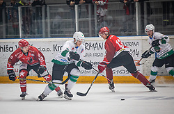 9# Cepon Kristjan HK SZ Olimpija Ljubljana during ice hockey match between HK SIJ Acroni Jesenice and HK SZ Olimpija in Round #12 of Alps Hockey League 2018/19 , on October 27, 2018 in Podmezakla hall , Jesenice, Slovenia. Photo by Urban Meglic / Sportida