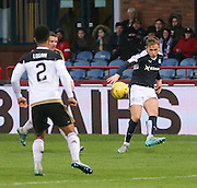 Dundee&rsquo;s Greg Stewart fires in a cross - Dundee v Aberdeen, Ladbrokes Scottish Premiership at Dens Park<br /> <br />  - &copy; David Young - www.davidyoungphoto.co.uk - email: davidyoungphoto@gmail.com