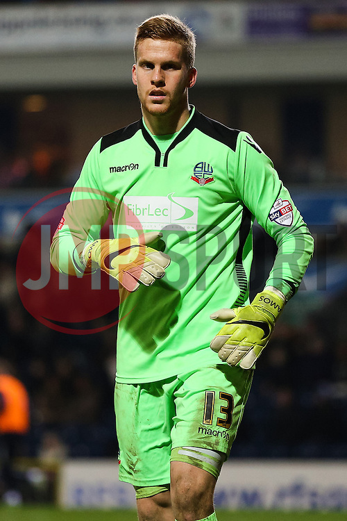 Ben Amos of Bolton Wanderers  - Photo mandatory by-line: Matt McNulty/JMP - Mobile: 07966 386802 - 11/03/2015 - SPORT - Football - Blackburn - Ewood Park - Blackburn Rovers v Bolton Wanderers - Sky Bet Championship