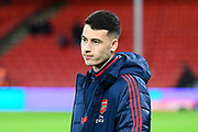 Gabriel Martinelli (35) of Arsenal on the pitch ahead of the The FA Cup match between Bournemouth and Arsenal at the Vitality Stadium, Bournemouth, England on 27 January 2020.