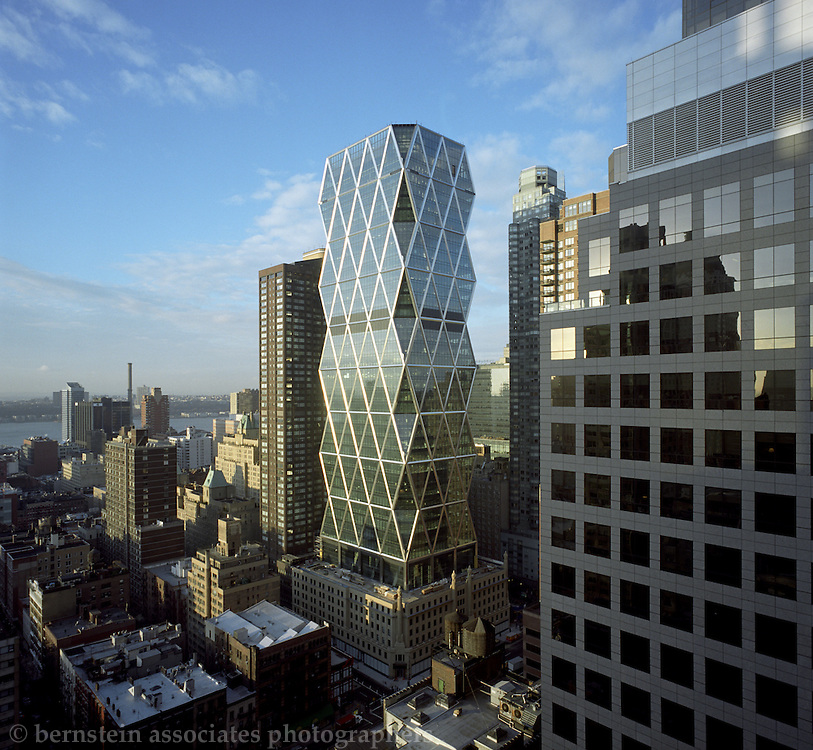 The Hearst Building in New York City is a revolutionary design using 20% less steel than the typical skyscraper.