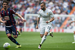 09.04.2016, Estadio Santiago Bernabeu, Madrid, ESP, Primera Division, Real Madrid vs SD Eibar, 32. Runde, im Bild Real Madrid's Jese Rodriguez and Sociedad Deportiva Eibar's Aleksandar Pantic // during the Spanish Primera Division 32th round match between Real Madrid and SD Eibar at the Estadio Santiago Bernabeu in Madrid, Spain on 2016/04/09. EXPA Pictures © 2016, PhotoCredit: EXPA/ Alterphotos/ Borja B.Hojas<br /> <br /> *****ATTENTION - OUT of ESP, SUI*****