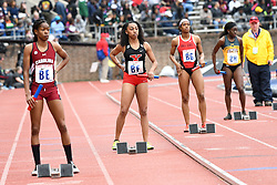 April 27, 2018 - Philadelphia, Pennsylvania, U.S - South Carolina, Ball State and others  in action during the CW 4x100 qualifying heats at the 124th running of the Penn Relays at Franklin Field in Philadelphia PA (Credit Image: © Ricky Fitchett via ZUMA Wire)