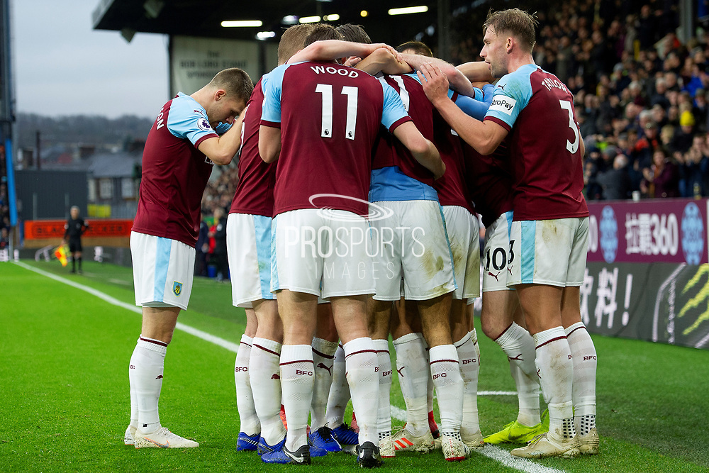 GOAL Burnley celebrate Burnley forward Dwight McNeil (31) as he scores a goal to make it 2-0 during the Premier League match between Burnley and West Ham United at Turf Moor, Burnley, England on 30 December 2018.