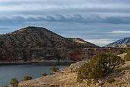 I spotted these Kelvin-Helmholtz clouds on a windy morning at Bighorn Canyon. The wave-shaped clouds are caused by atmospheric instability when winds are moving at varying speeds in different levels of the atmosphere. This was my first time capturing these rare clouds.