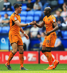 Benik Afobe of Wolverhampton Wanderers celebrates after scoring his sides second goal - Mandatory by-line: Matt McNulty/JMP - 21/04/2018 - FOOTBALL - Macron Stadium - Bolton, England - Bolton Wanderers v Wolverhampton Wanderers - Sky Bet Championship