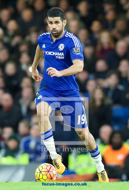 Diego Costa of Chelsea during the Barclays Premier League match at Stamford Bridge, London<br /> Picture by Alan Stanford/Focus Images Ltd +44 7915 056117<br /> 07/02/2016