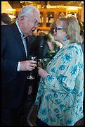 MARTYN LEWIS; LADY ANTONIA FRASER, Launch of Rachel Kelly's memoir 'Black Rainbow' about recovering from depression with the help of poetry published by Hodder & Stoughton , ( Author proceeds will be given to the charities SANE and United Response ). Cafe of the National Gallery.  London. 7 May 2014