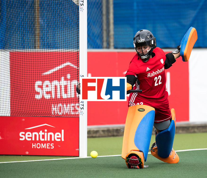 AUCKLAND - Sentinel Hockey World League final women<br /> Match id: 10299<br /> 09 NED v KOR (Pool A)<br /> Foto:  Josine Koning (Gk) <br /> WORLDSPORTPICS COPYRIGHT FRANK UIJLENBROEK