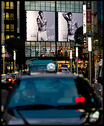 A David Beckham poster in central Tokyo,Japan, advertising his new underwear at the Tokyo H&M store, Tuesday January 31st, 2012. Photo By Andrew Parsons/ i-Image..