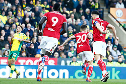 Jamie Paterson of Bristol City scores and celebrates - Mandatory by-line: Phil Chaplin/JMP - FOOTBALL - Carrow Road - Norwich, England - Norwich City v Bristol City - Sky Bet Championship
