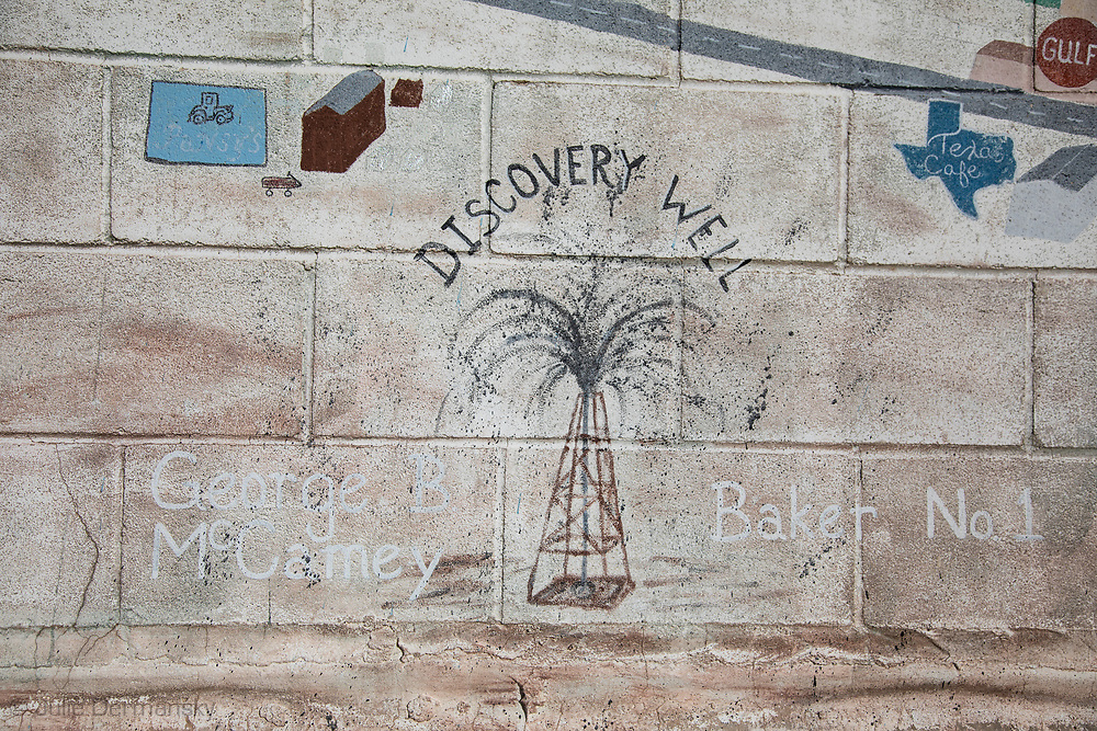 Mural on a building in the Permain Basin.
