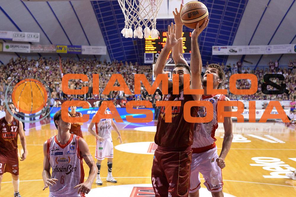 DESCRIZIONE : Venezia Lega A 2014-15 Umana Venezia-Grissin Bon Reggio Emilia  playoff Semifinale gara 7<br /> GIOCATORE : Aradori Pietro<br /> CATEGORIA :  Low Special<br /> SQUADRA : Tiro<br /> EVENTO : LegaBasket Serie A Beko 2014/2015<br /> GARA : Umana Venezia-Grissin Bon Reggio Emilia playoff Semifinale gara 7<br /> DATA : 11/06/2015 <br /> SPORT : Pallacanestro <br /> AUTORE : Agenzia Ciamillo-Castoria /Richard Morgano<br /> Galleria : Lega Basket A 2014-2015 Fotonotizia : Reggio Emilia Lega A 2014-15 Umana Venezia-Grissin Bon Reggio Emilia playoff Semifinale gara 7<br /> Predefinita :