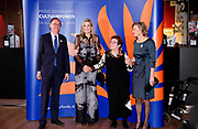 Koningin Maxima tijdens de uitreiking van de Prins Bernhard Cultuurfonds Prijs 2016 aan documentairemaker Heddy Honigmann in Muziekgebouw aan het IJ.<br /> <br /> Queen Maxima during the presentation of the Prince Bernhard Culture Price 2016 documentarian Heddy Honigmann in Music Building at the IJ.