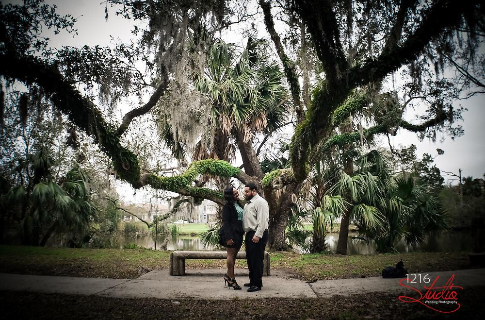 Couple Wedding Engagement - City Park New Orleans  2013 Wedding Photography 1216 Studio | Photographer
