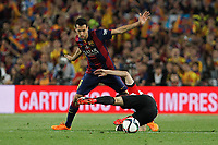 Barcelona´s Sergio Busquets during 2014-15 Copa del Rey final match between Barcelona and Athletic de Bilbao at Camp Nou stadium in Barcelona, Spain. May 30, 2015. (ALTERPHOTOS/Victor Blanco)
